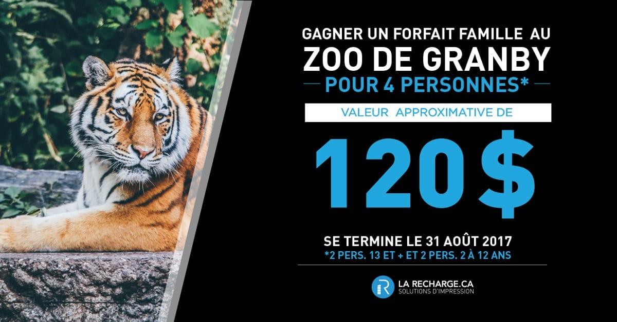 Concours Gagnez un forfait pour 4 personne au Zoo de Granby