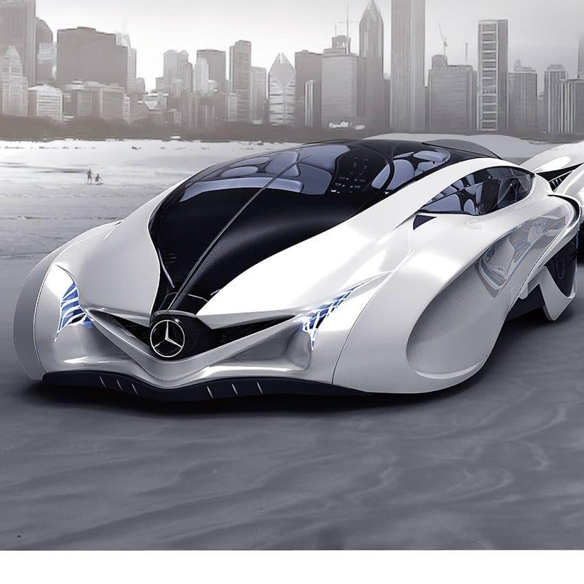 voiture futuriste hi tech