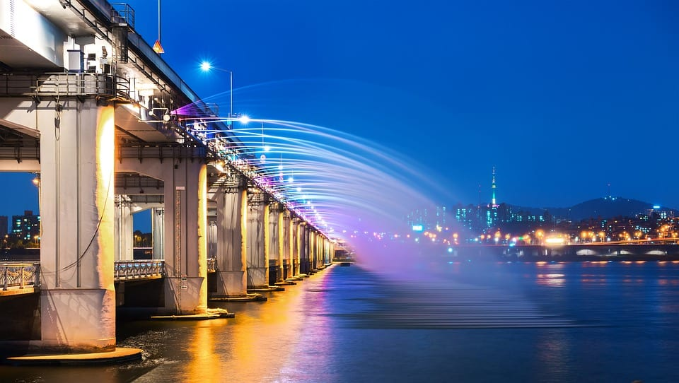 Pont de Banpo à Séoul