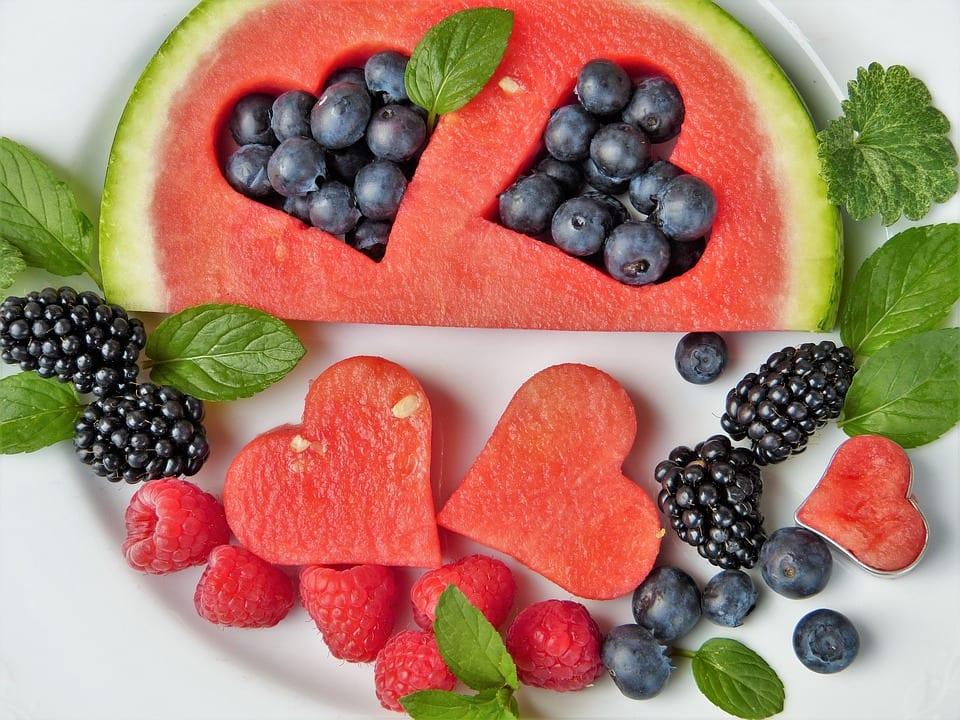assiette de fruit santé pour maigrir et perdre du poids