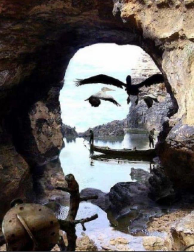 8. Cette photo ressemble à une image du test de Rorschach..Vous trouvez pas ?