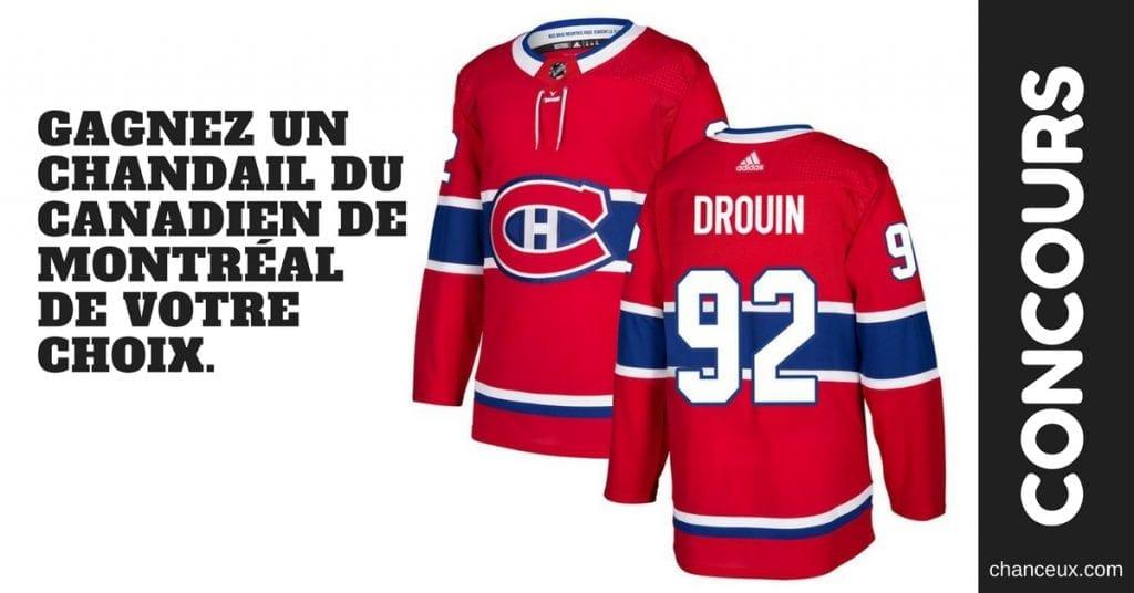 Gagnez un chandail du Canadien de Montréal de votre choix.