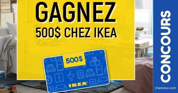concours-quebec-Carte-Cadeau de 500$ à dépenser chez IKEA !