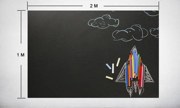 Gagne un ensemble tableau à craie autocollant pour petits et grands !