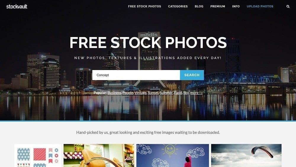 La banque d'image gratuite STOCKVAULT est libre de droit.