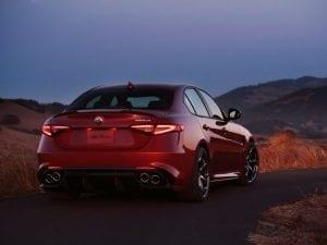 Alfa Romeo Giulia vue arrière