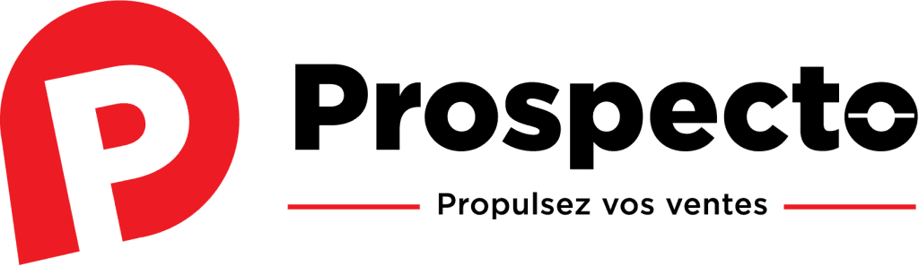 Logo couleur prospecto, prospecto.sale, propulsez vos ventes