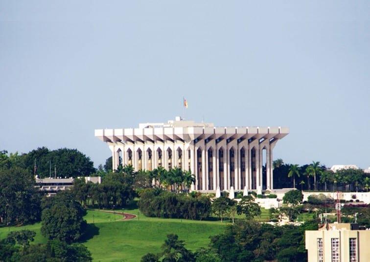 Le Palais de l'Unité (Yaoundé, Cameroun)