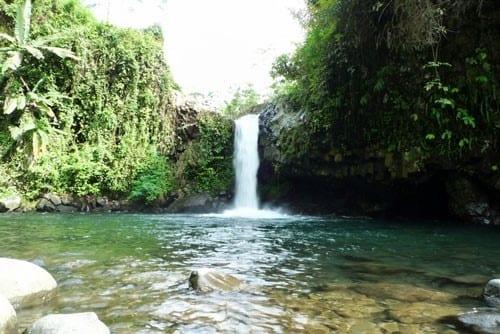 Nagez dans les cascades amazoniennes de Baturadden, Purwokerto