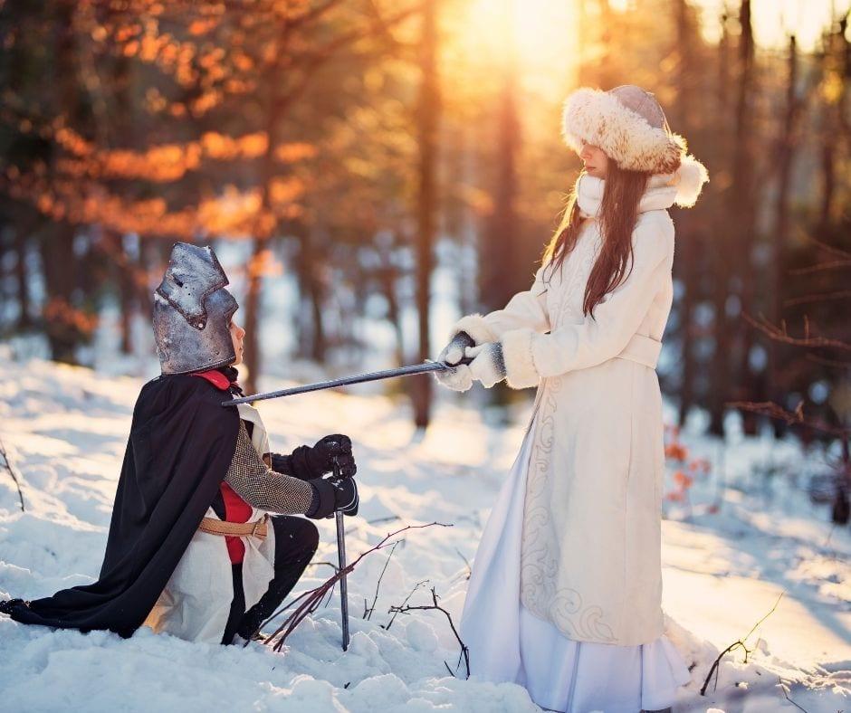 Chevalier et princesse du jour