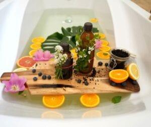Mélangez l'arôme du bain